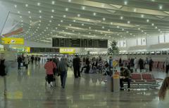 Business airport trip hall holiday travel vienna Stock Photos