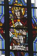 Icon belief saint st. st auf einem einer kirche Stock Photos