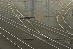 austrian federal railways railway rail track bb - stock photo