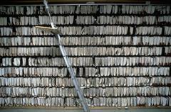 office archive arrange document in shelf civil - stock photo