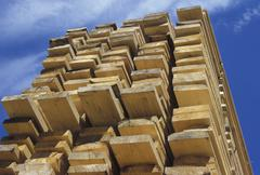 Design economy industry shelves stacked timber Stock Photos