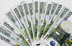 Business design money logo pattern bill euro Stock Photos