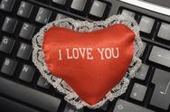 Stock Photo of love heart symbol red dear keyboard affection in