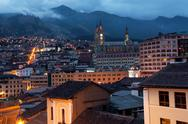 Quito, Ecuador at Night Stock Photos