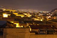 Stock Photo of Night Time Quito Ecuador