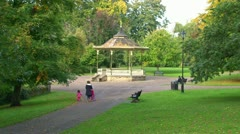 Park Bandstand Stock Footage