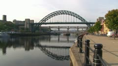 Newcastle Tyne Bridge Stock Footage