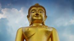41 TSeated gold buddha, timelapse Stock Footage