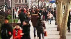Busy Street Traffic in Shanghai Time Lapse - stock footage