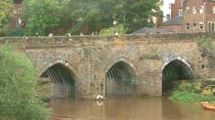 Durham Elvet Bridge Stock Footage