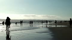 Stock Video Footage of Crowd vacation people at Coronado Beach. San Diego, California, USA.