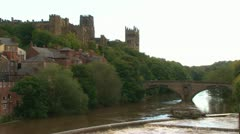 Durham River & Cathedral Stock Footage