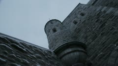 Scenes from Quebec City - walking under the battlements Stock Footage