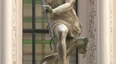 Statue of Neptune Stock Footage