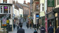 Durham Old Town Lane Stock Footage