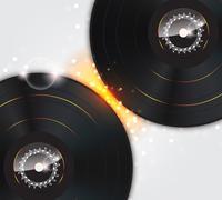 Musiikki taustalla hehku vinyyli levyt Piirros