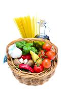 pasta ingredients - stock photo