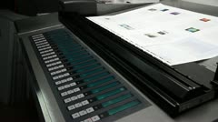 Spectrophotometer on offset machine Stock Footage