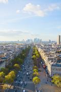 Skyline of paris and la defense district , france Stock Photos