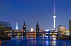 Stock Photo of oberbaum bridge and tv tower