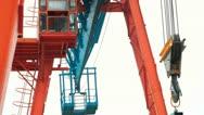 Gantry crane Stock Footage
