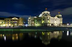 Stock Photo of berlin at night
