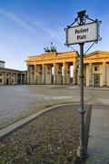 pariser platz berlin - stock photo