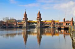 oberbaum bridge berlin - stock photo