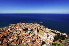 Aerial view of Cefalù, Sicily Stock Photos