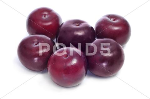 Stock photo of damson plums