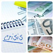 European crisis collage Stock Photos