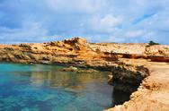 Punta de sa pedrera coast in formentera, balearic islands, spain Stock Photos