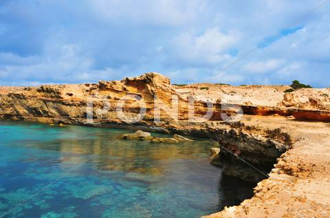Stock photo of punta de sa pedrera coast in formentera, balearic islands, spain