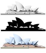 sydney opera house - stock illustration