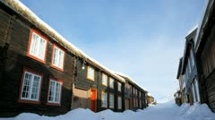 Roros Norway Unesco World Heritage Site Stock Footage