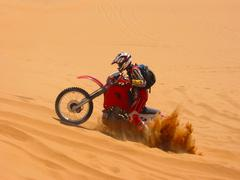 Buried motorcycle Stock Photos