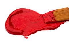 red acrylic paint - stock photo