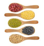 collection of beans - stock photo