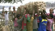 Stock Video Footage of Jute Mill Workers - Bangladesh, Asia