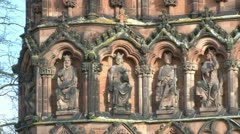Religious Figures Stone Carvings Stock Footage