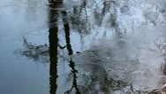 Stock Video Footage of spring melting of ice on a pond