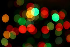 Color blurred lights Stock Photos