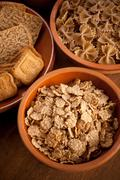 Whole grain carbohydrates Stock Photos