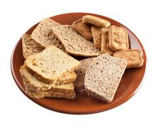 whole grain carbohydrates - stock photo