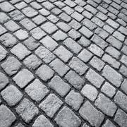 Old stone paved street Stock Photos