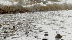 Ocean sea tide coming in Stock Footage
