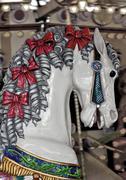Vintage carousel horse Stock Photos