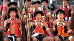 Hornbill Festival tribal dancing, Nagaland, India Stock Footage