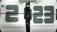 Stop motion of a flip clock Stock Footage
