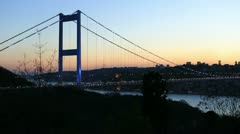 Fatih Sultan Mehmet Bridge Stock Footage